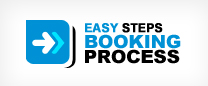 5 Step Easy Booking Process
